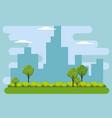 cityscape buildings scene icons vector image