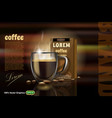 coffee pack advertising template vector image vector image