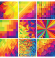 Colorful abstract backgrounds set of design vector image vector image