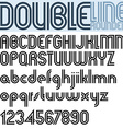 Double Line retro style geometric font vector image vector image