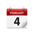 february flat daily calendar icon date vector image vector image