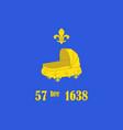 flag of saint-germain-en-laye in yvelines in vector image vector image