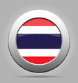 flag of thailand metal gray round button vector image