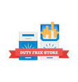 flat icon of duty free cigarette packs at vector image vector image