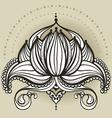 Freehand drawing of lotus in east style vector image