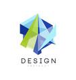 geometric logo template creative icon in gradient vector image vector image