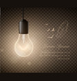 glowing light bulbs set of hanging lights vector image