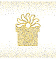 gold dotted gift box vector image