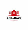 grill house fork spatula logo icon vector image vector image