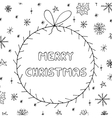 Hand drawn greeting card in doodle styleChristmas vector image vector image