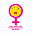happy womens day greeting card postcard on march 8 vector image vector image