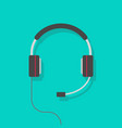headphones flat cartoon vector image