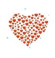 Hearts confetti vector image