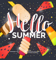 hello best summer vector image