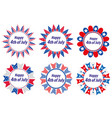 independence day america usa set round frames vector image vector image