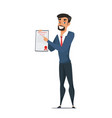 insurance agent with document cartoon