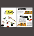 japanese cuisine restaurant menu template vector image vector image