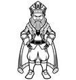 king standing line art vector image
