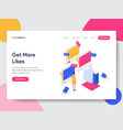 landing page template get more likes isometric vector image vector image
