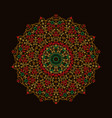 mandala ornament background round vintage vector image vector image