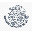 mexico coat of arms vector image