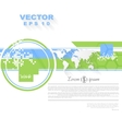 Minimal flat tech bright background vector image vector image
