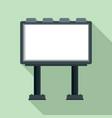 modern billboard icon flat style vector image vector image