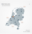 netherlands infographic map vector image vector image