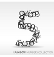 number five design elements vector image vector image