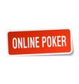 online poker square sticker on white vector image vector image