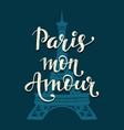 paris mon amour romantic lettering vector image