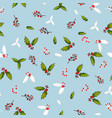 pattern with holly branches vector image