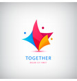 person logo teamwork love support vector image vector image