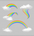 rainbow transparent realistic set vector image vector image