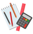 school stationery for pupils to study mathematics vector image vector image