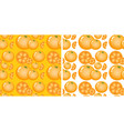 seamless background design with oranges vector image vector image