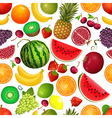 seamless texture of fruit vector image vector image