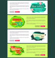seasonal discount poster exotic leaves summer sale vector image vector image