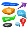 set of abstract polygonal labels and signs vector image vector image