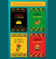 set of cinco de mayo festive party poster template vector image