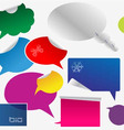 Set of colorful dialog boxes and stickers
