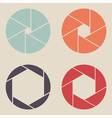 shutter icon set vector image vector image