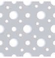 Simple seamless snow pattern with snowflakes vector image