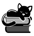 sleeping cat icon simple style vector image