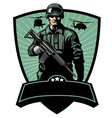 Soldier with rifle vector image vector image