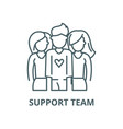 Support team line icon linear concept