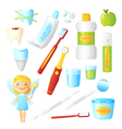 Teeth Healthy Dentist Set vector image vector image