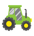 tractor flat icon transport and vehicle vector image vector image
