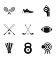 Training icons set simple style vector image vector image
