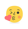 trendy love emoji smile eps10 vector image